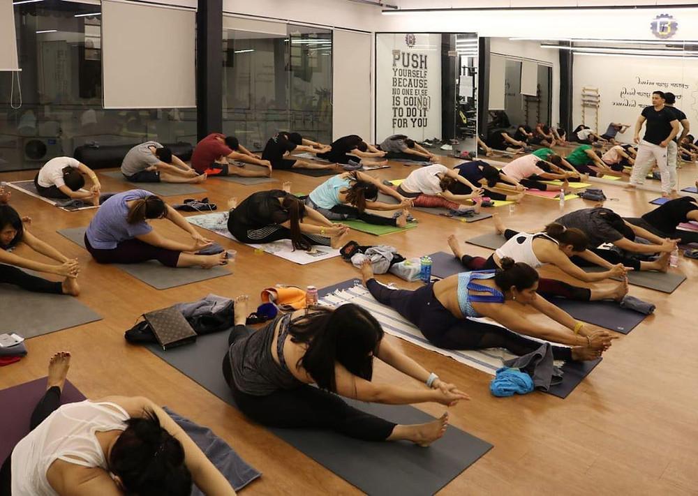 Yoga class at Balance Fitness