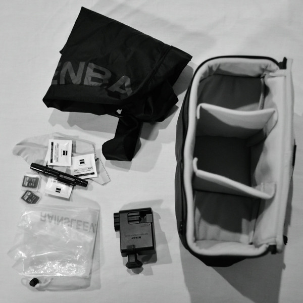 Camera Insert, Bag and Accessories