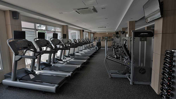 Real Fitness Cardio Room in Yangon