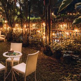 Winner Inn Courtyard Garden Seating Night
