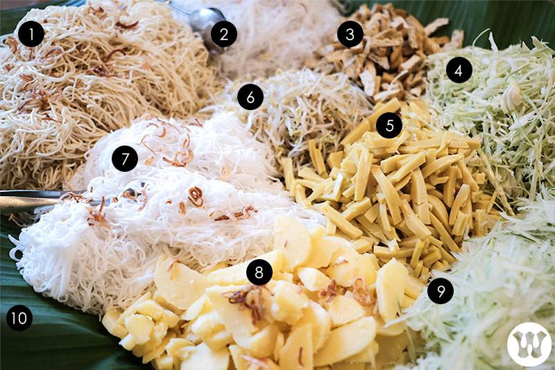 Noodles, vegetables, tofu, and potato