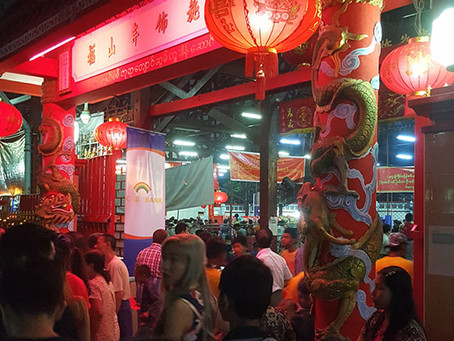Feast Given To All Comers At Fushan Chinese Buddhist Temple