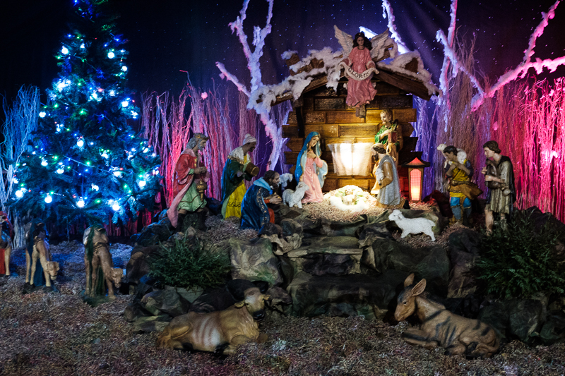 Birth of Jesus Statues at St Mary's