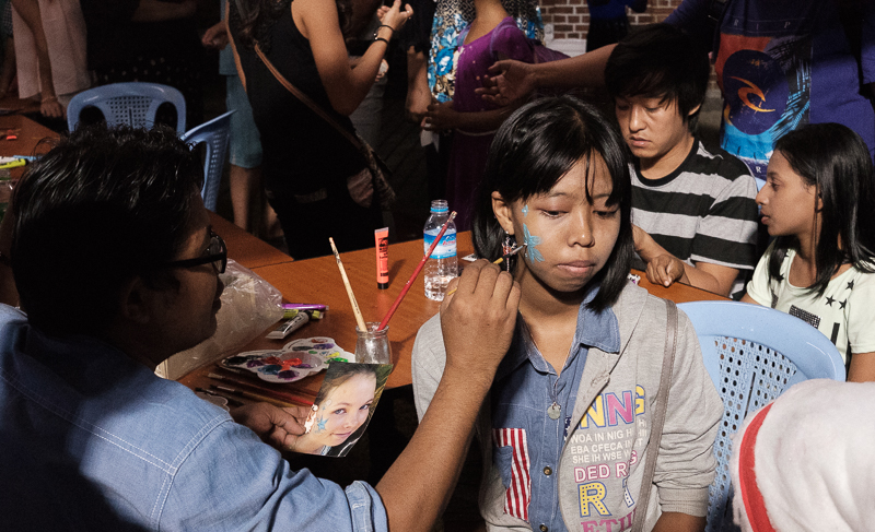 Face Painting for Xmas Night
