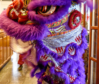 Traditional Lion Dances for Chinese New Year at Winner Inn