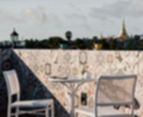 Winner Inn Balcony Shwedagon Pagoda Seat