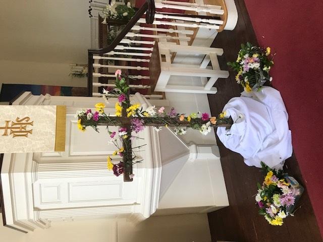 flowered cross a