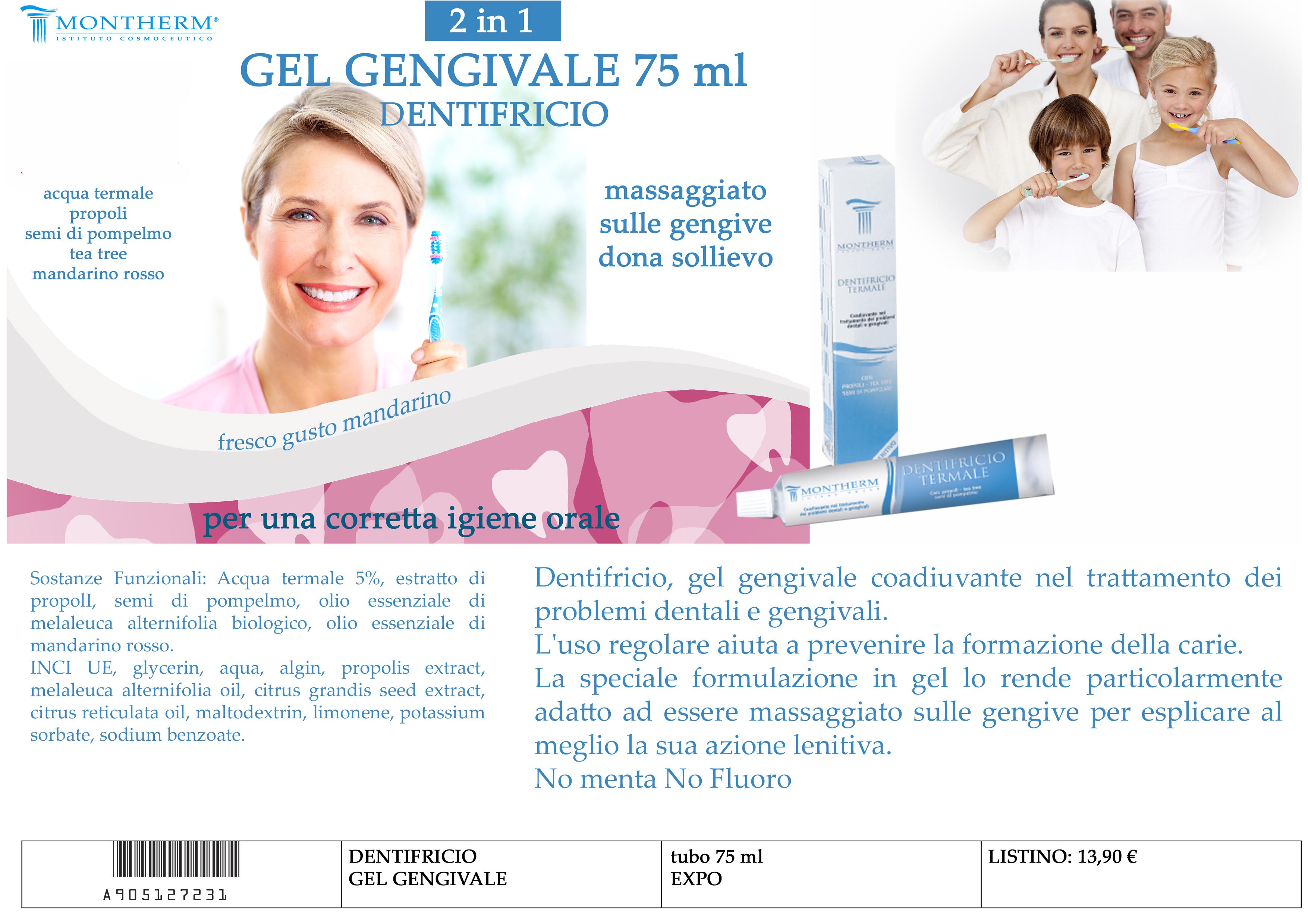 Scheda X catalogo dentifricio