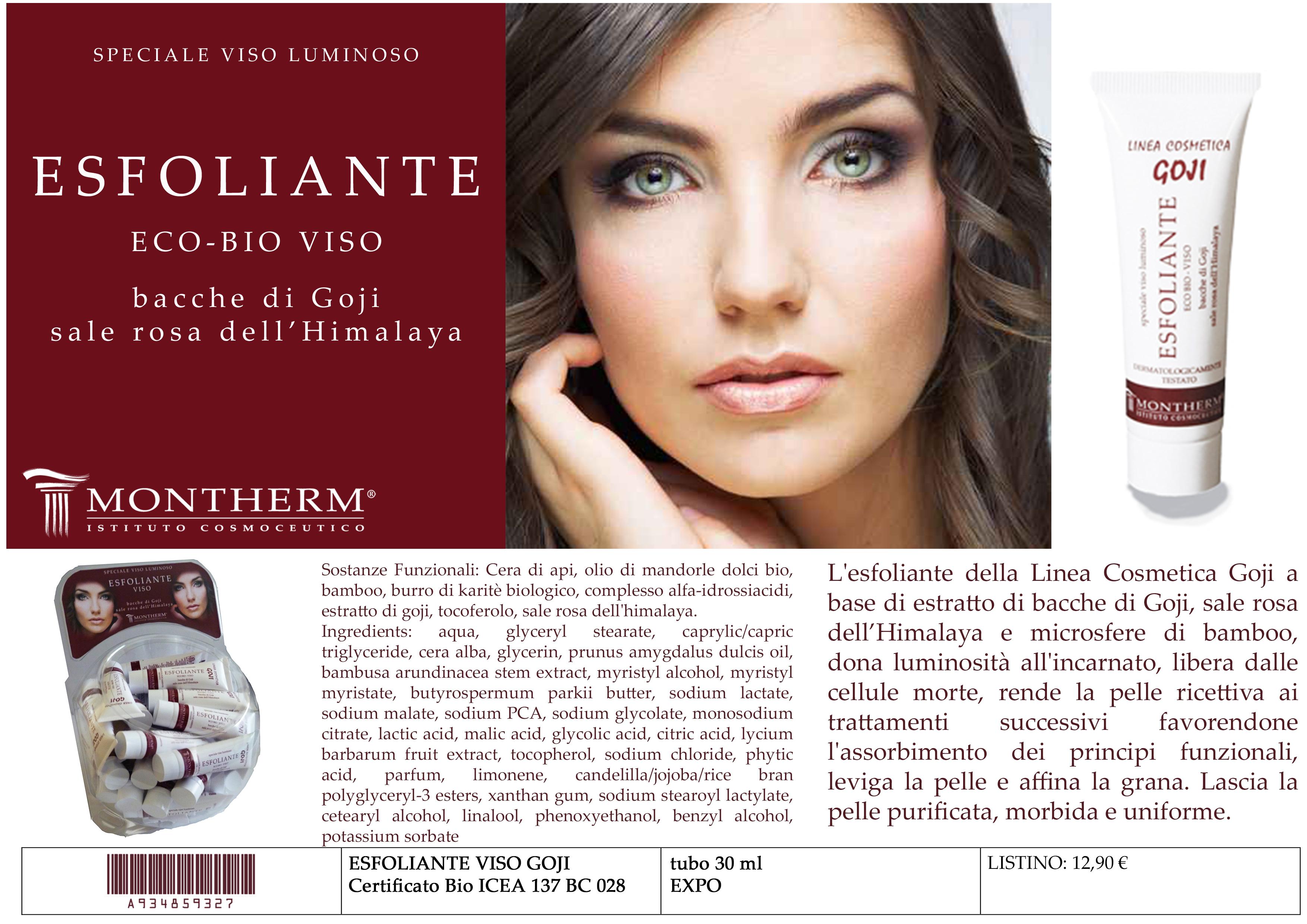 Scheda X catalogo goji esfoliante