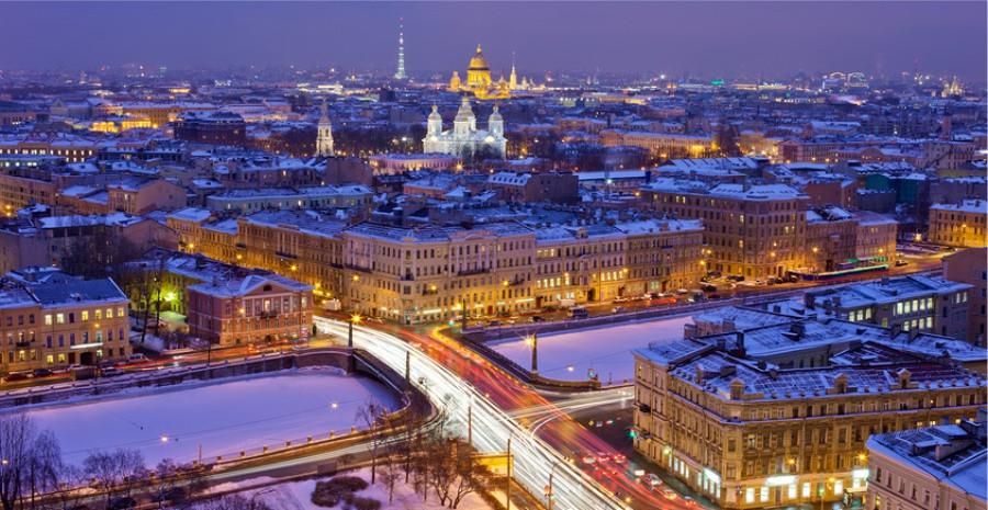 Night Lights of St Petersburg