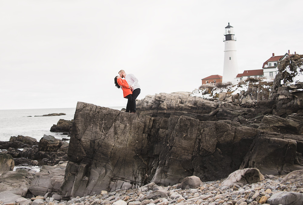 Portland Head Lighthouse Engagement Session