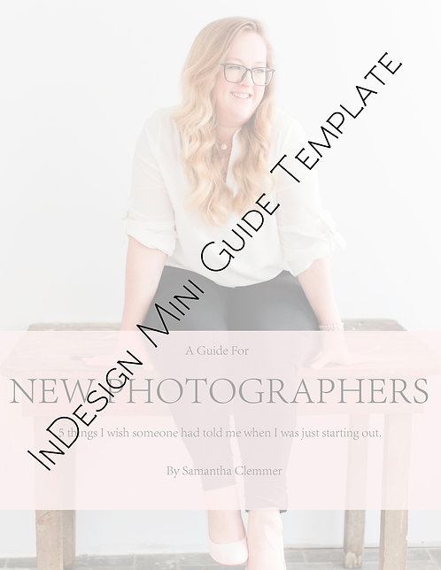 InDesign Mini Guide Template   New Photographers