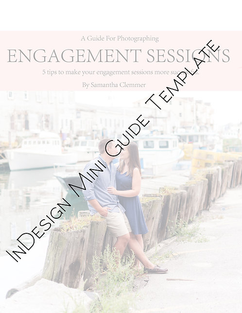 InDesign Mini Guide Template | Engagement Sessions