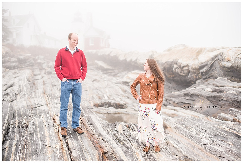 Pemaquid Point Lighthouse Engagement Session