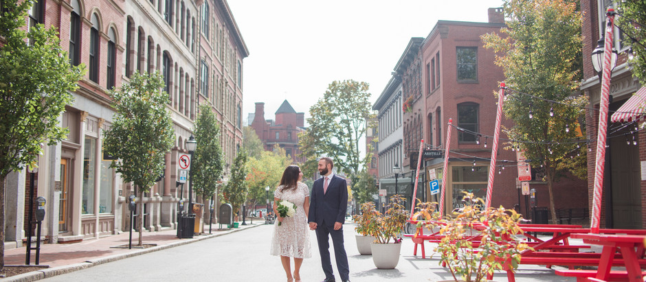 Portland Maine City Hall Elopement | Courtney and Eddie