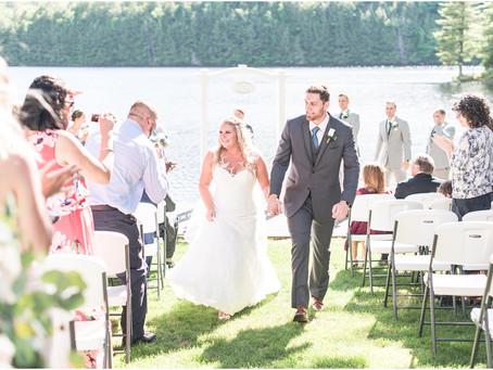 Maine Lakeside Cabins Wedding | Sarah & Kyle