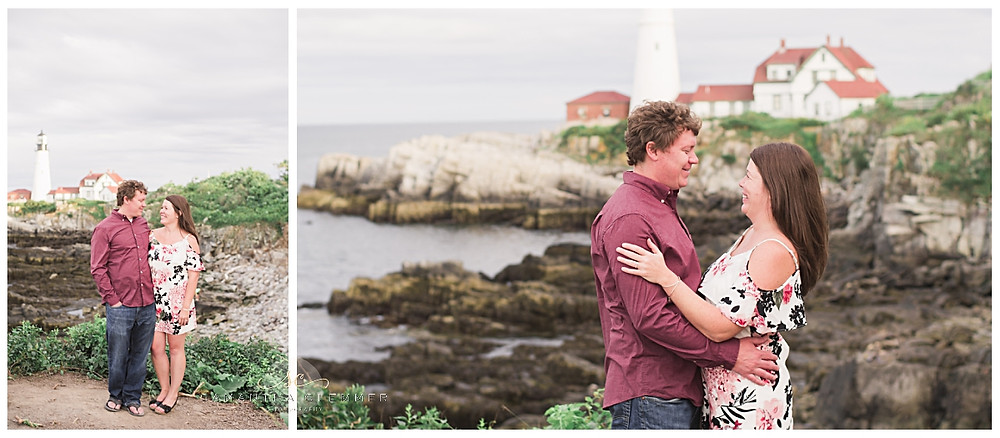 Portland Head Light Engagement Session