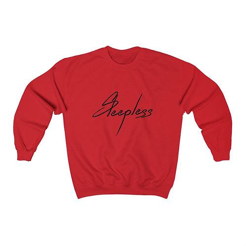 Cursive Sleepless Crewneck Sweatshirt