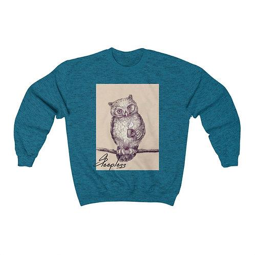 Sleepless Owl Unisex Heavy Blend™ Crewneck Sweatshirt