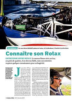 Article sur AFULM - Connaître son Rotax dans Aviation et Pilote - décembre 2018