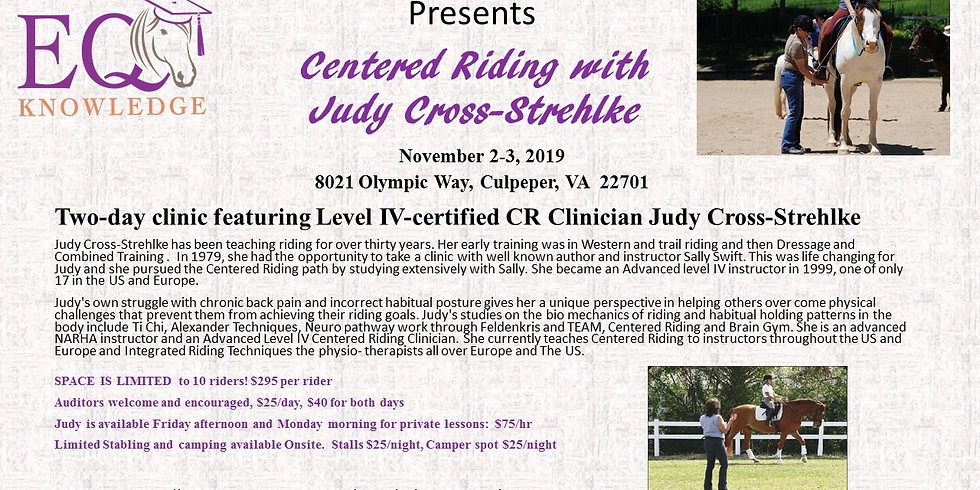 Centered Riding with Judy Cross-Strehlke