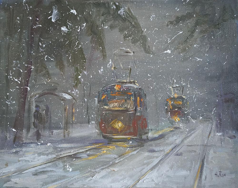 Нина Панюкова Снег 20х25 х м