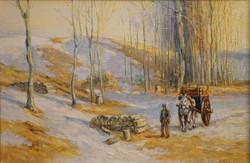 Александр Панюков Весна. холст, масло,16х23