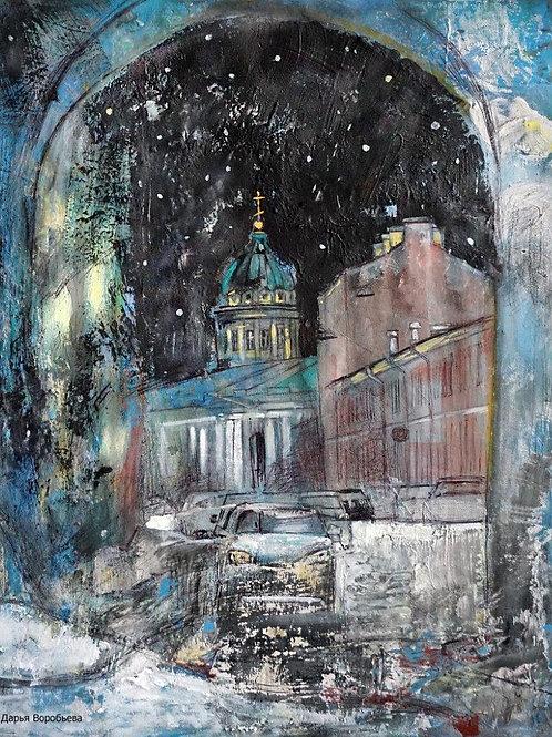 Ночной Санкт-Петербург. 40*50, холст, масло