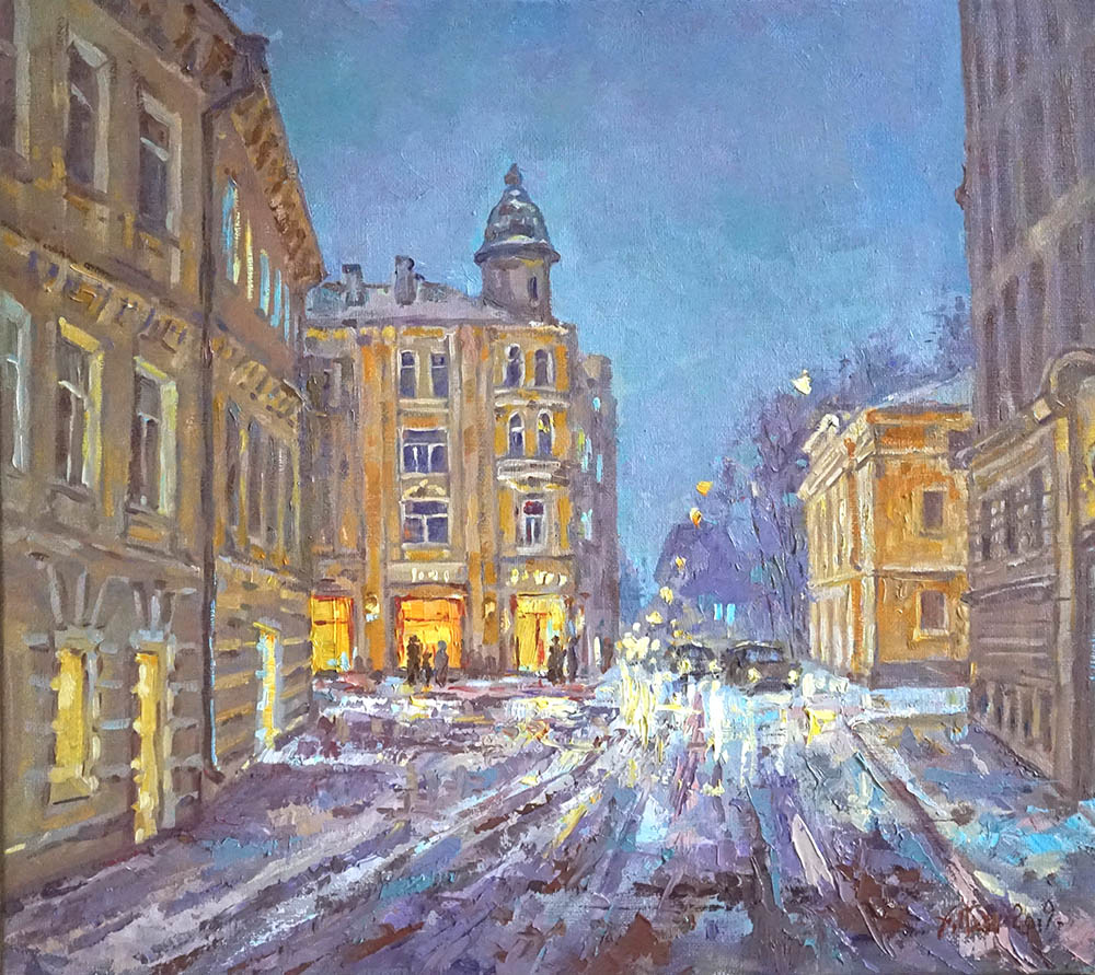 "Александр Панюков ""Зимой на Лялиной площади""."
