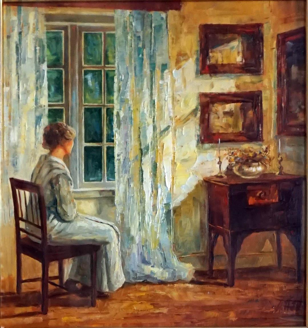 Александр Панюков Мечтающая девушка. х. м., 32х36