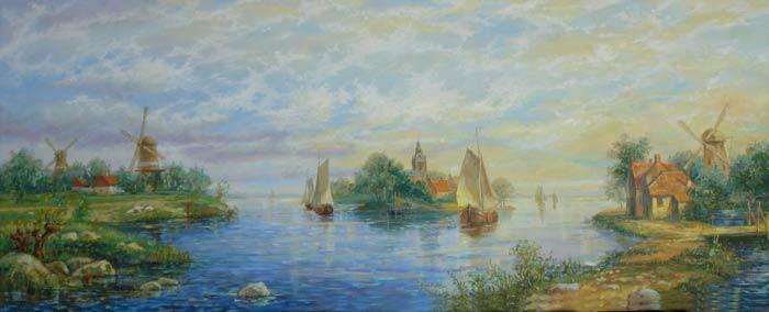 Александр Панюков Синева воды. х. м., 40х100
