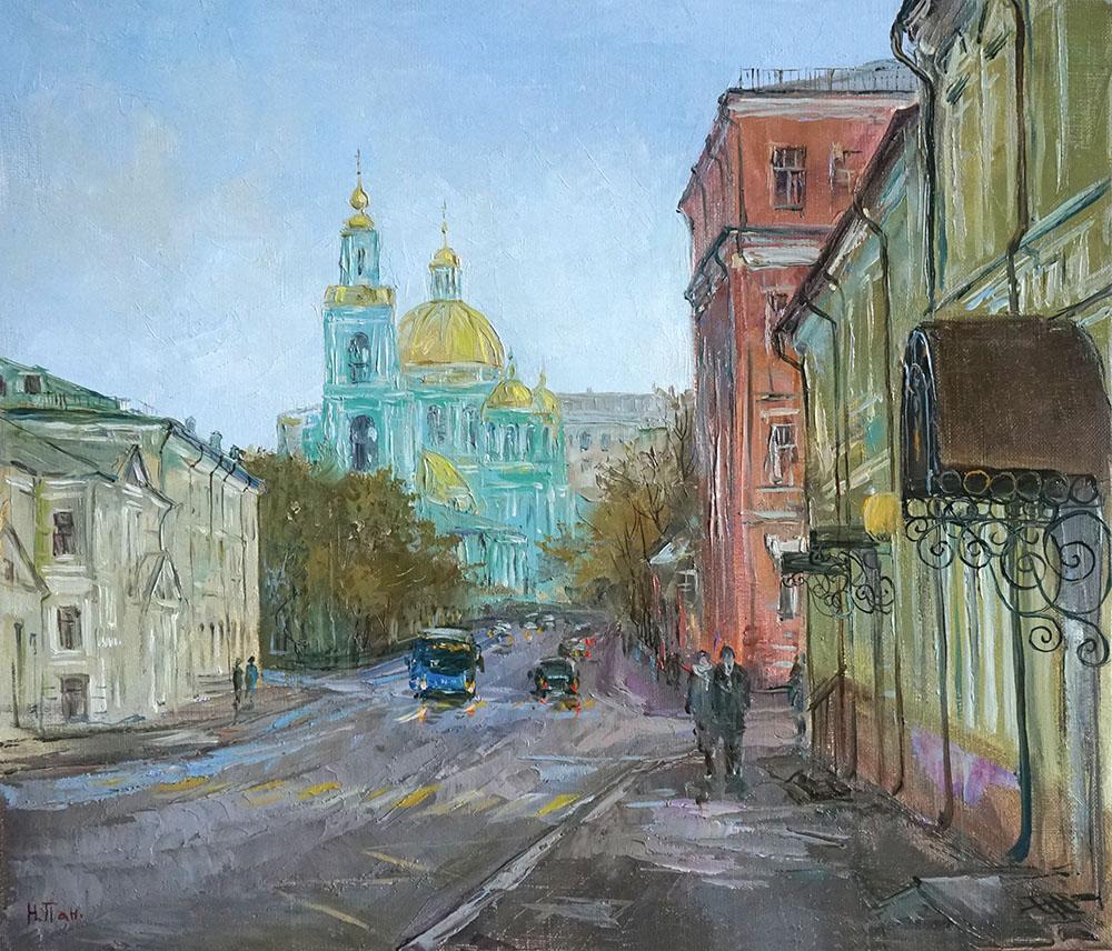 """Нина Панюкова """"Вид с площади Разгуляй."""""""