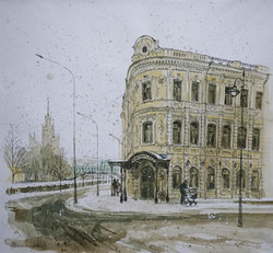 "Нина Панюкова ""Мокрый снег, у Чугунного моста."""