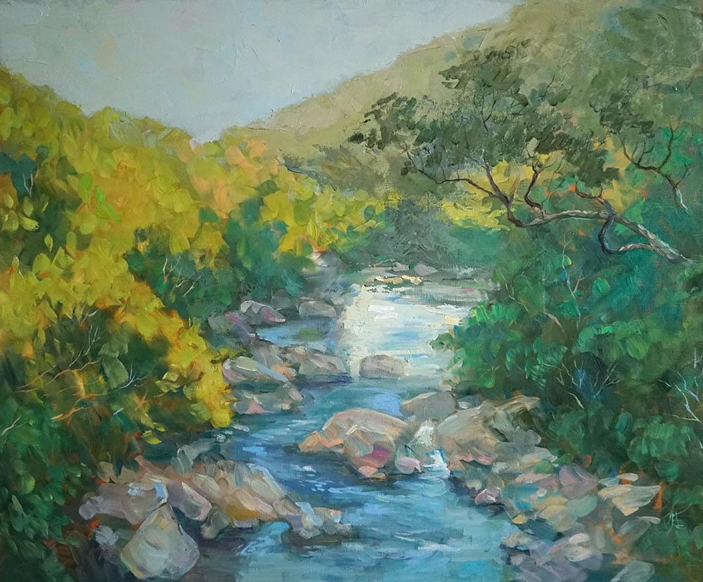 Нина Панюкова Горная река 50х60 х м