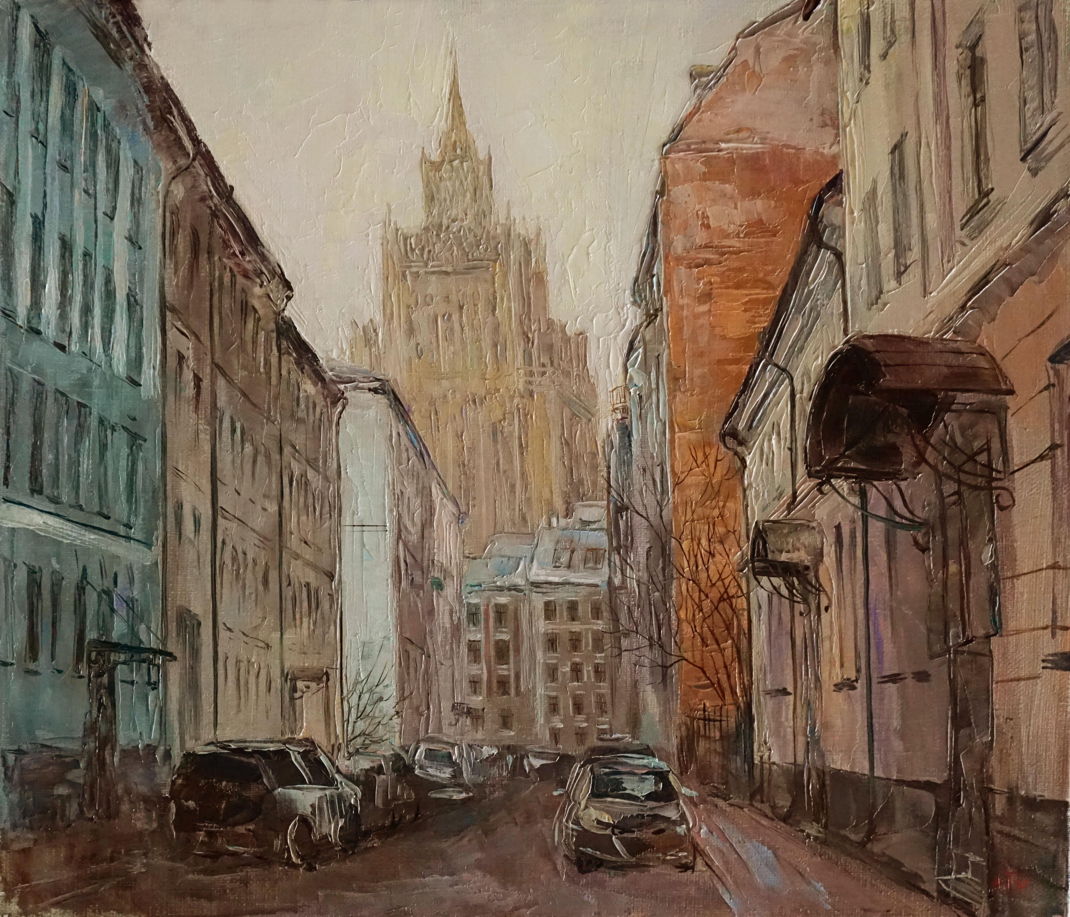 Нина Панюкова Кривоарбатский переулок 30х35 х м