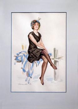 Нина Панюкова Красотка. акварель, бумага, 40х30