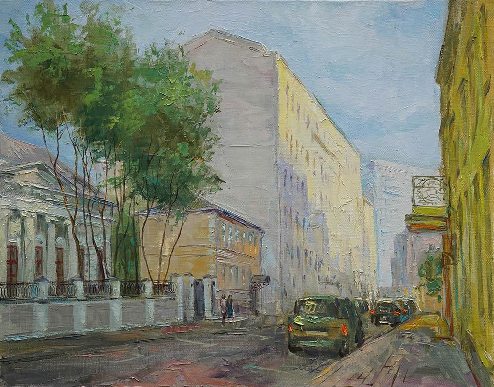 Нина Панюкова Прогулки по Москве Трубниковский переуок 40х50 х м
