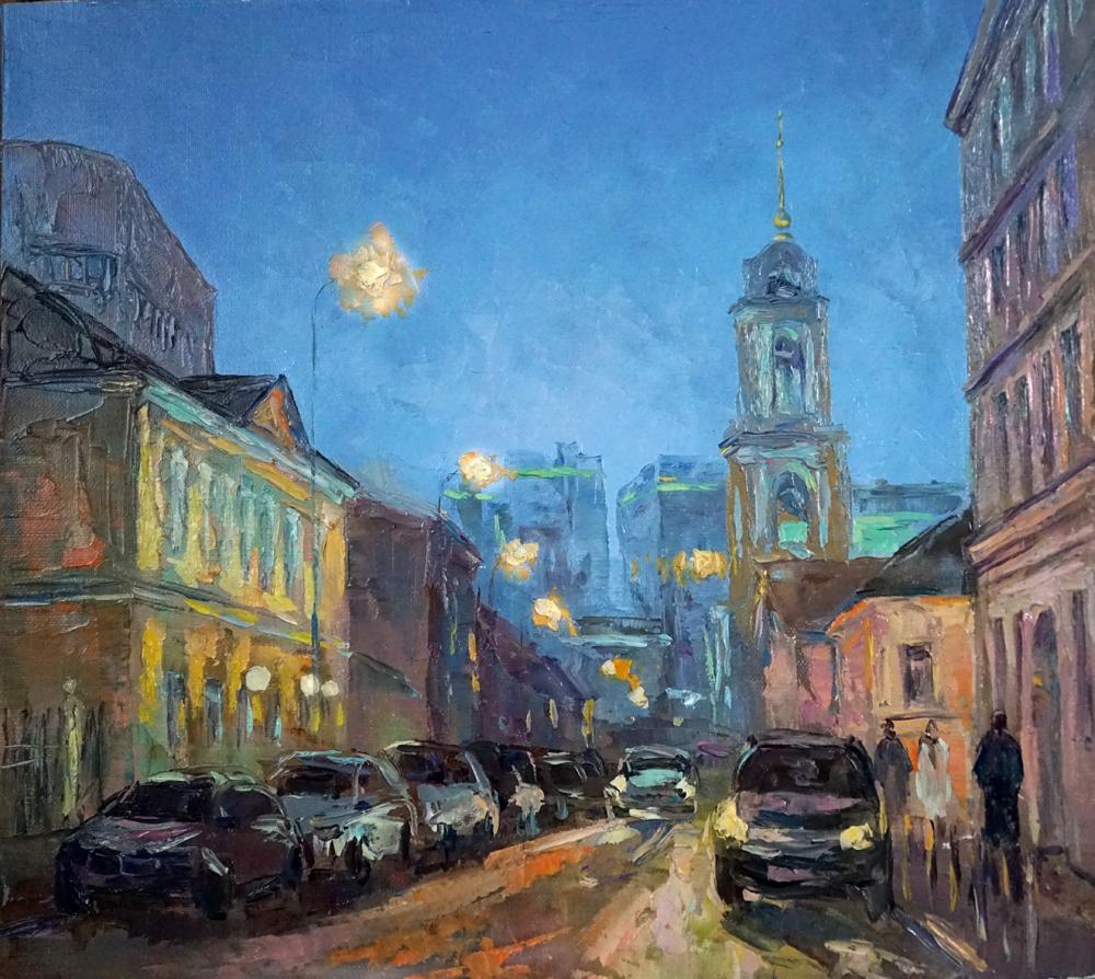 Нина Панюкова Улица Рождественка 35х40 х м