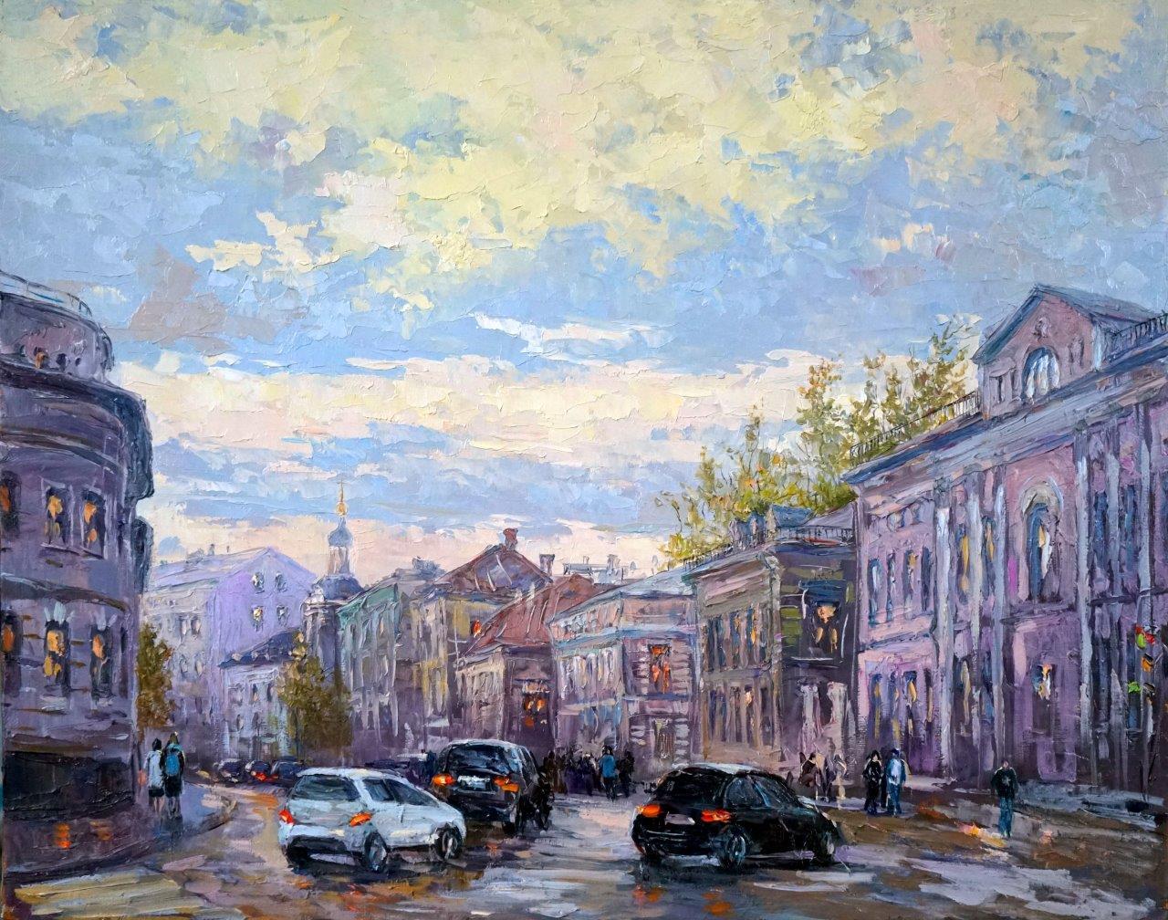 Нина Панюкова Ул. Солянка, холст, масло,40х50