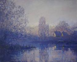 Александр Панюков Сиреневый туман 40х50 х м