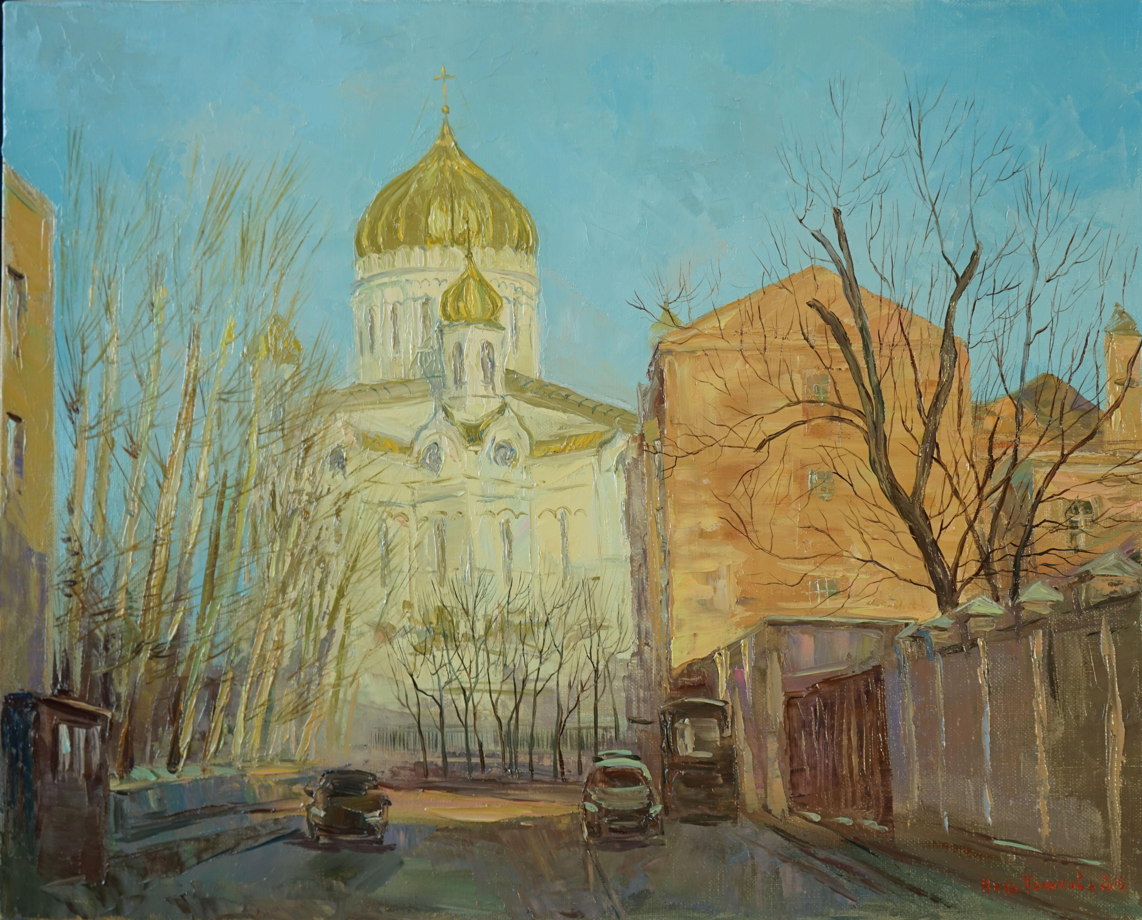 Нина Панюкова Вид с Курсового переулока 40х50