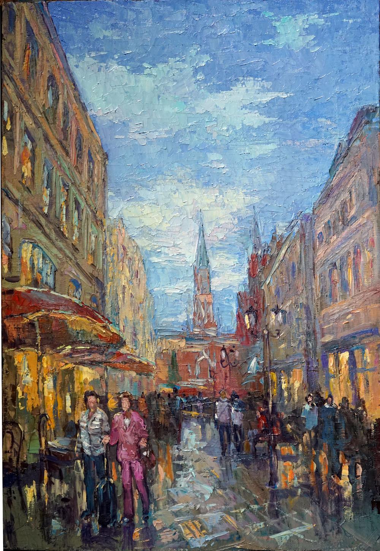 Нина Панюкова Никольская улица. 50х35, х. м.