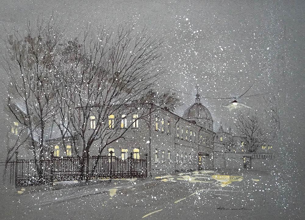 """Нина Панюкова """"Снежный вечер в Хохловском""""."""