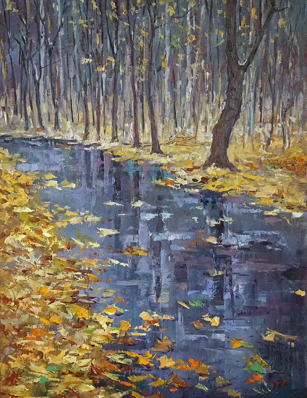 Александр Панюков Кленовые листья 40х30 х м