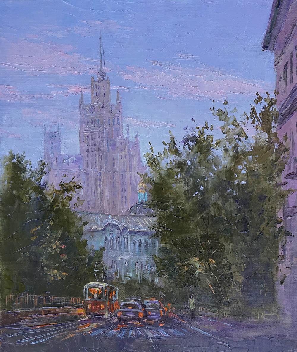 Нина Панюкова Прогулки по Москве Яузский бульвар 35х30 х м