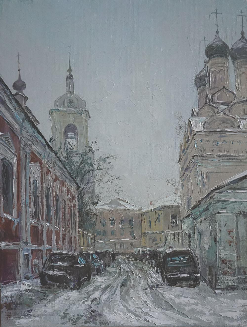 Нина Панюкова Заснеженный Черниговский 40х35 х м