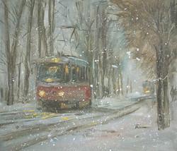 Нина Панюкова Снежная зима 30х35 х м