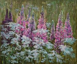 Нина Панюкова Созвучие полевых цветов 50х60 х м