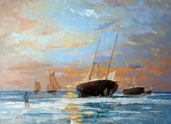 Александр Панюков Корабли на отдыхе 40х50