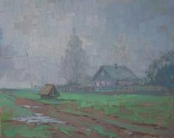 Александр Панюков Утренний туман на Шексне х м 25х30